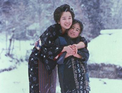 おしん青年期の田中裕子と少女時代の小林綾子