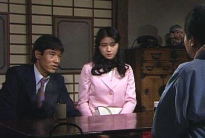仁役の山下慎二と妻・田倉道子役の田中美佐子