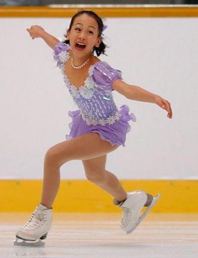 2002年全日本フィギュアスケートでの浅田真央さん12歳
