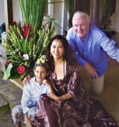 デヴィ夫人の娘・カリナと孫のキラン君
