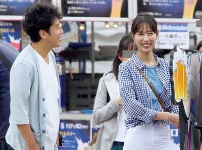 ムロツヨシさんと戸田恵梨香さん