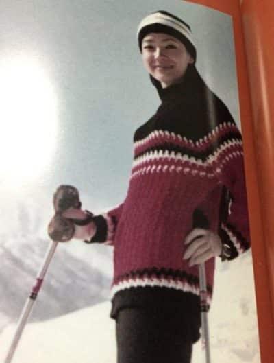 若い頃のスキーを楽しむ櫻井よしこさん