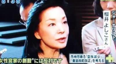 昔から美人ジャーナリストの櫻井よしこさん